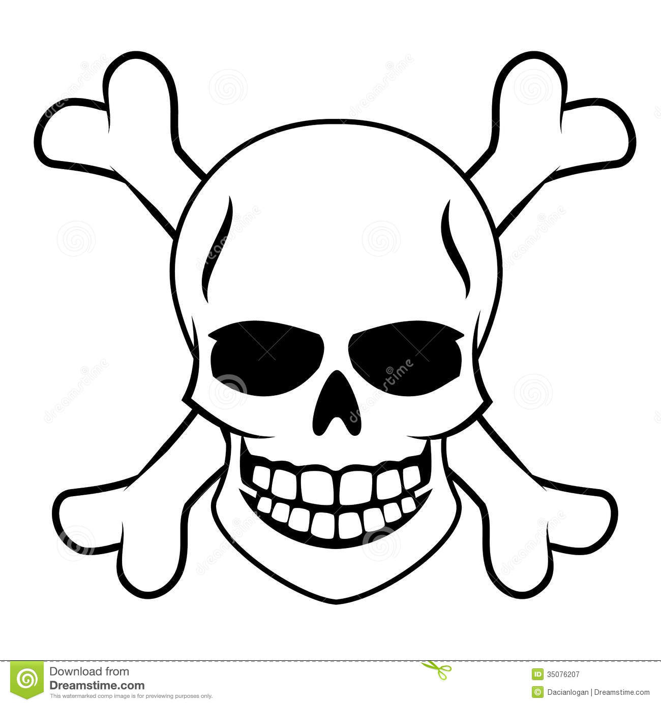 Skull With Crossbones Royalty Free Stock Photography