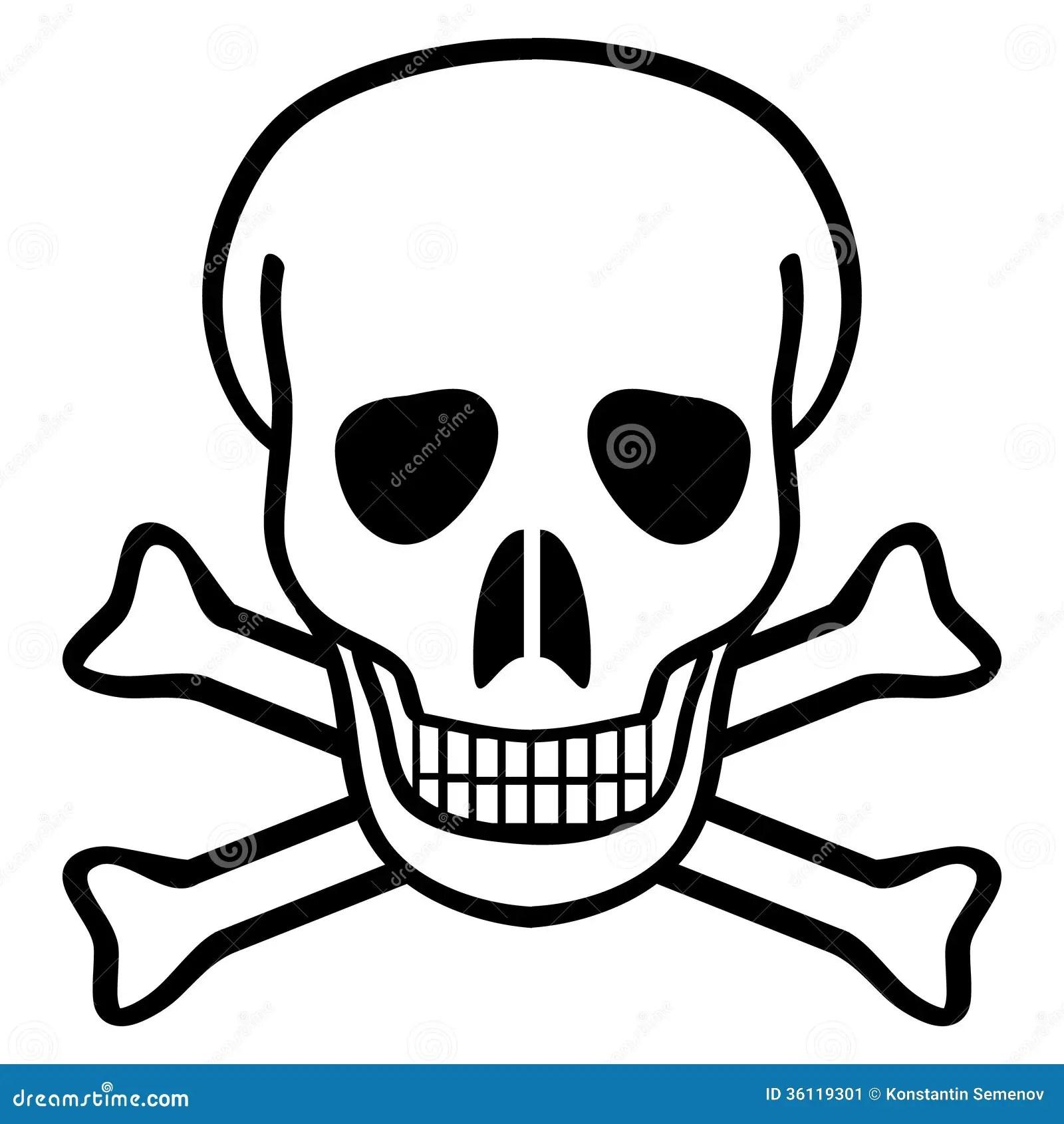 Skull And Crossbones Stock Vector Illustration Of Danger