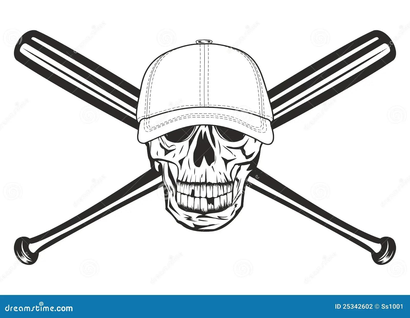 Skull In Cap Royalty Free Stock Photo