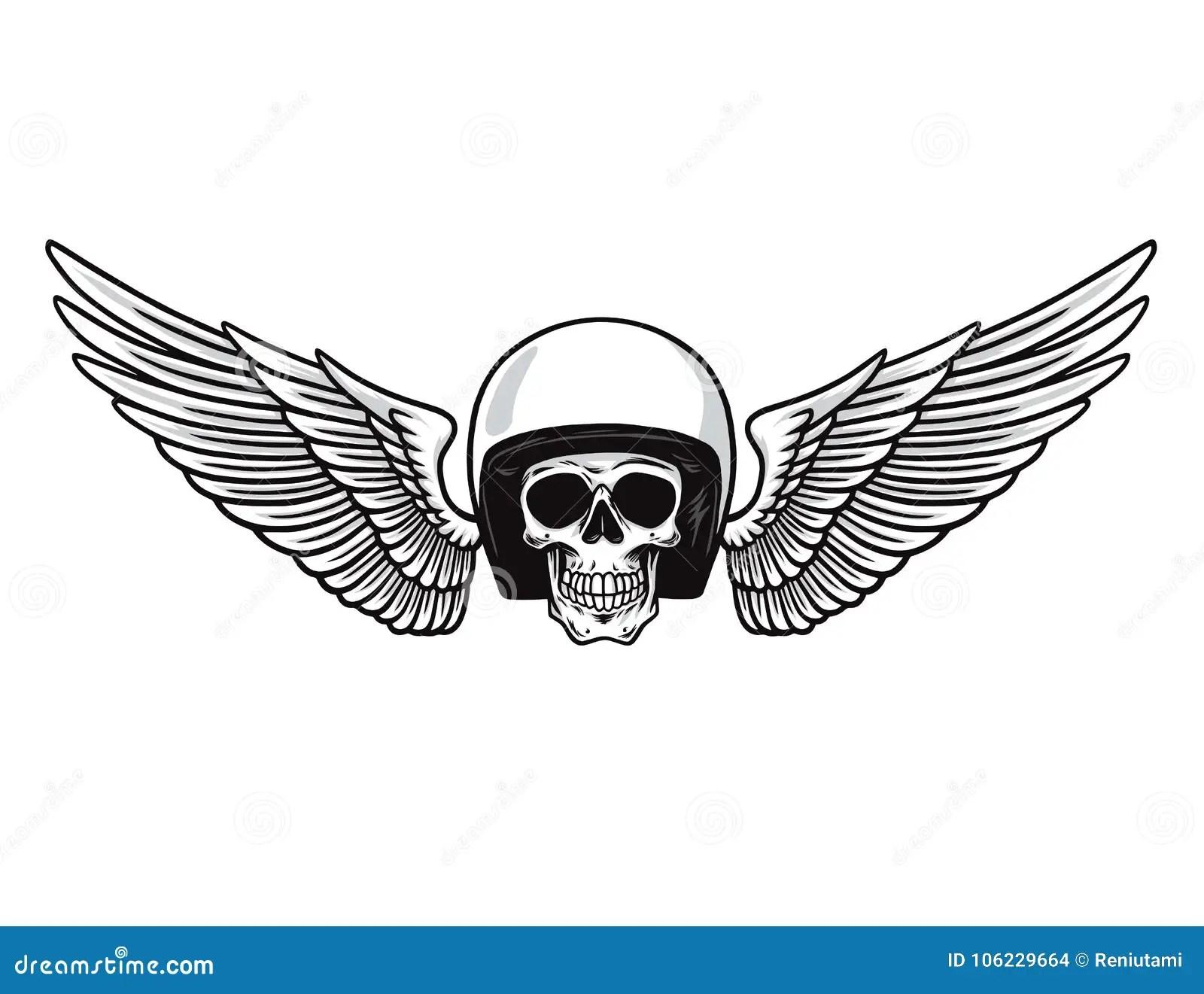 Motor Skull Vector Graphic Motorcycle Vintage Cartoon