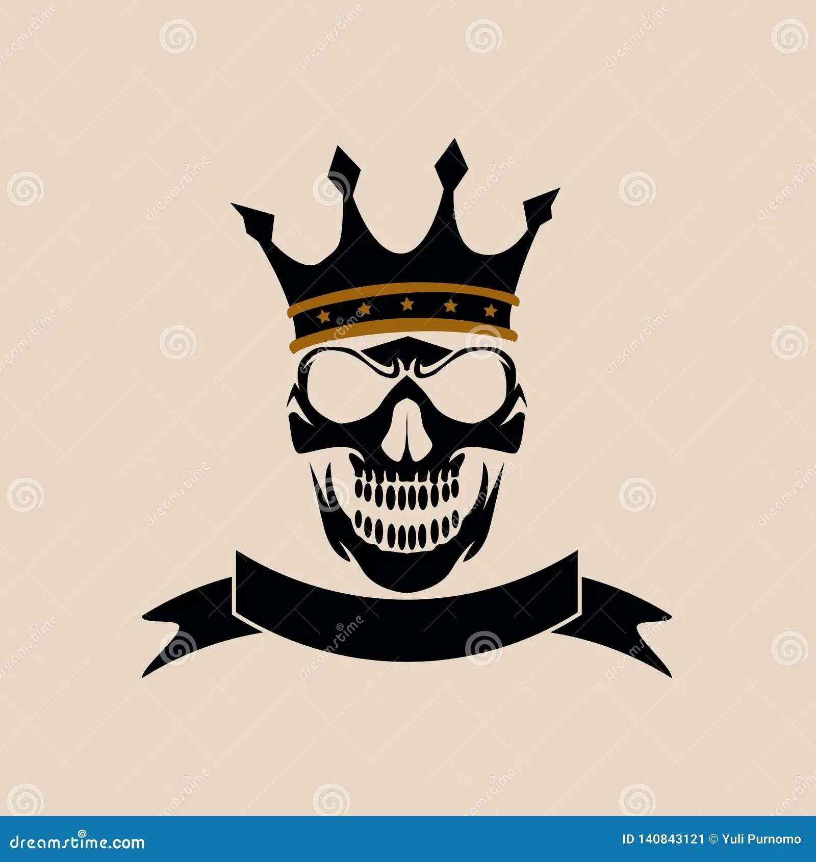 skull logo design template