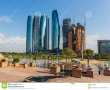 Skyscrapers In Abu Dhabi Uae Editorial Stock