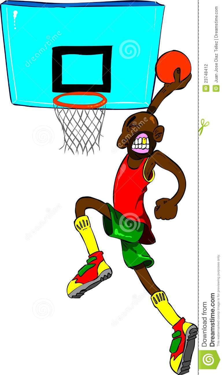 basketball player drawing