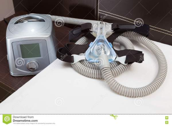 Sleep Apnea CPAP Mask Hose Headgear And Machine Stock