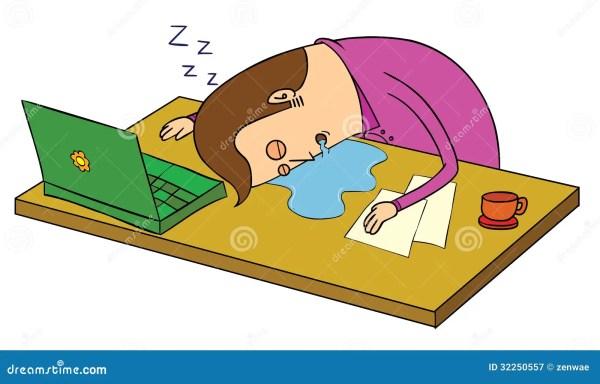 sleep over office stock vector