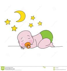 moon sleeping baby stars cartoon cute illustration vector dreamstime