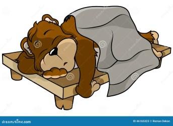 bear sleeping clipart illustration cartoon vector colored clip