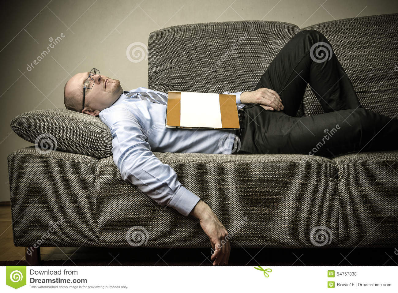 Sleeping On The Couch Stock Photo  Image 54757838