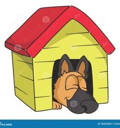 sleeping dog illustration with gradients stock illustration [ 1300 x 1130 Pixel ]