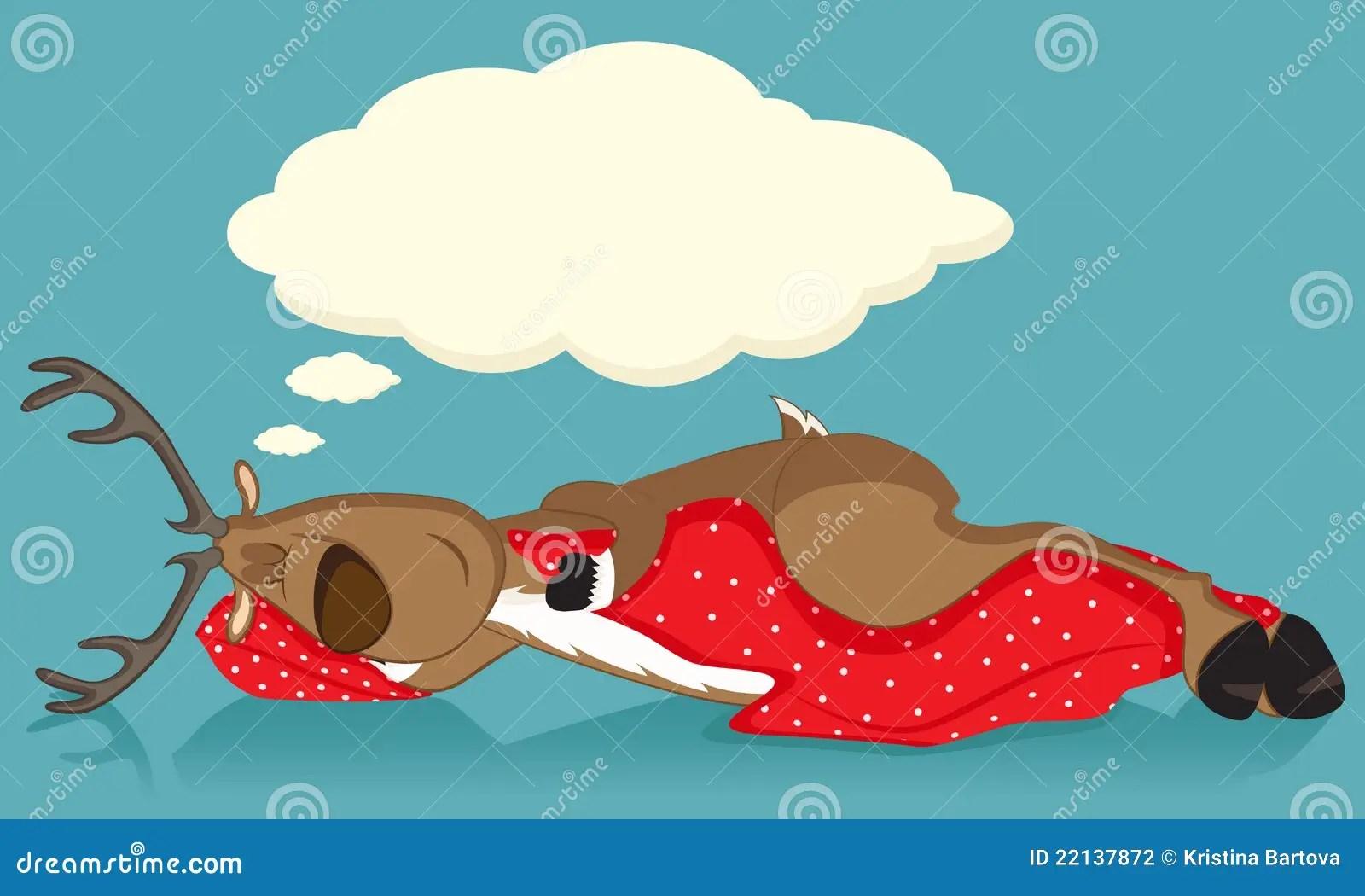 Sleeping Reindeer Stock Photography  Image 22137872
