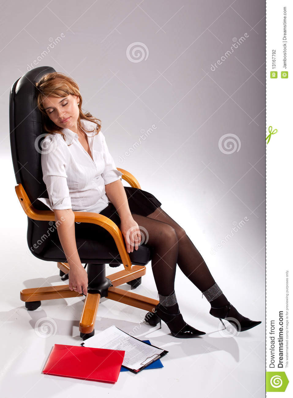 Sleeping Secretary Stock Photography  Image 13167792