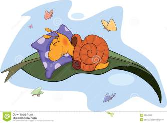 snail sleeping cartoon butterflies pillow environment slug royalty