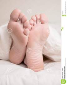 Sleeping Woman' Feet Stock - 3300772