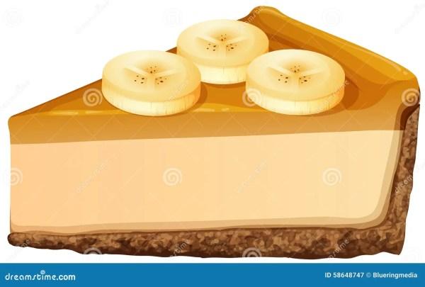 slice of banana cheesecake stock