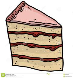slice of cake line art vector illustration clip art [ 1300 x 1390 Pixel ]