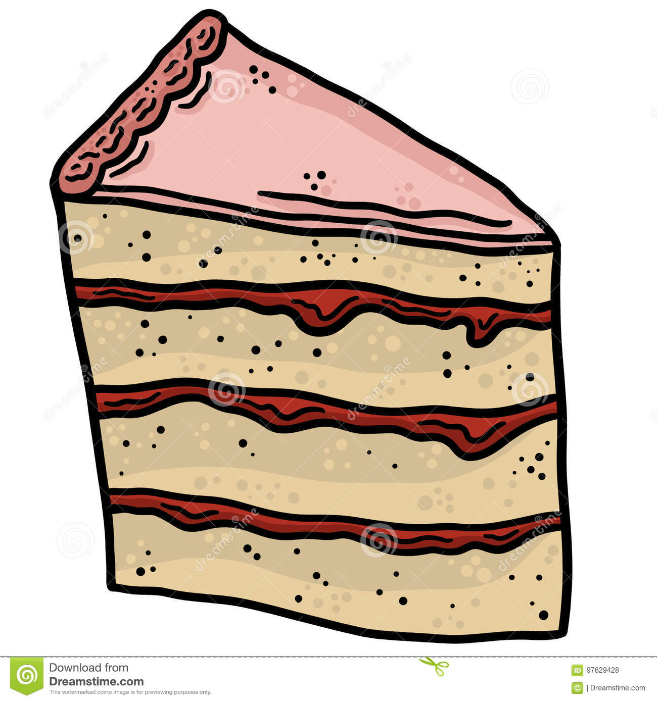 hight resolution of slice of cake line art vector illustration clip art
