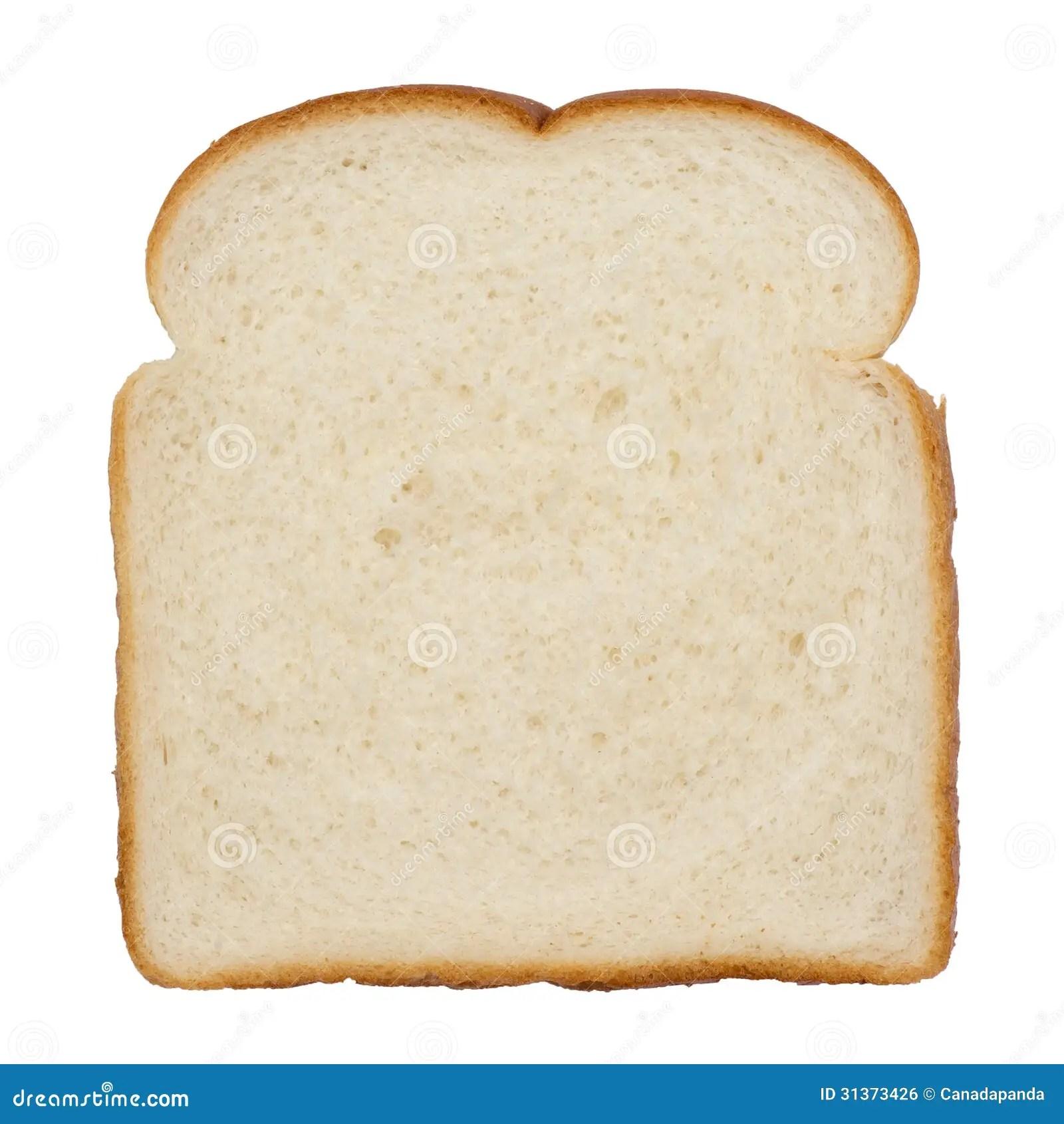 Slice Of White Bread Stock Photo Image Oft Studio