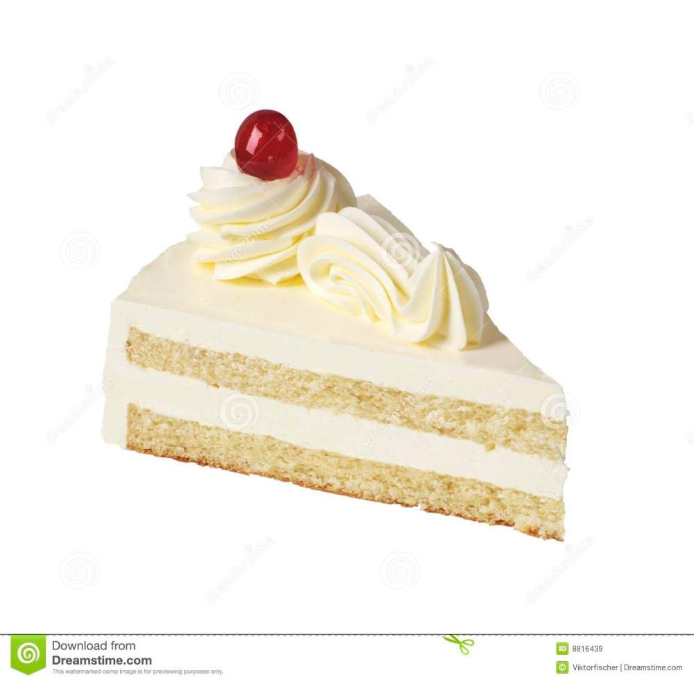 medium resolution of slice of white cream cake