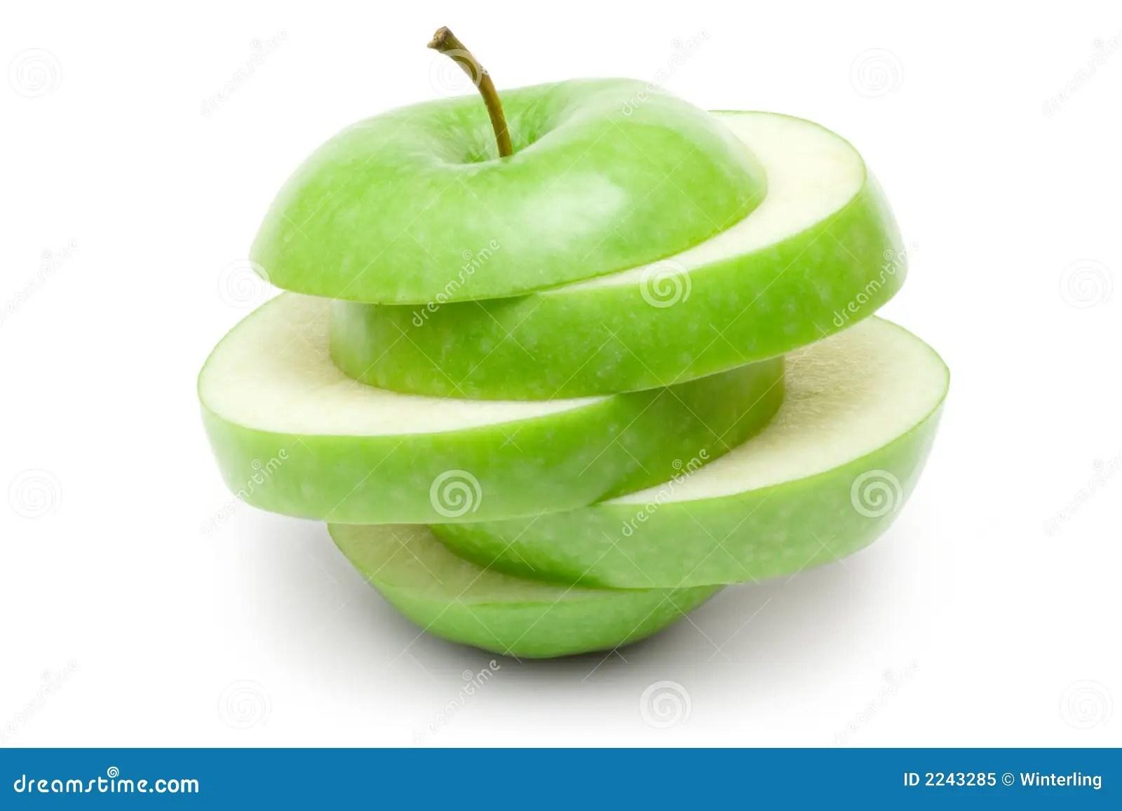 Sliced Green Apple Royalty Free Stock Photo  Image 2243285