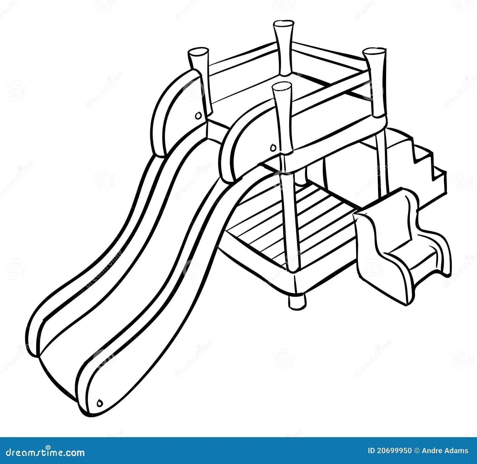 Slide Outline Playground Stock Illustrations 218 Slide
