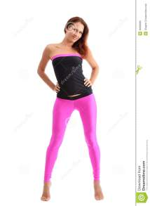 Slim Woman In Sport Clothes Fitness Stock