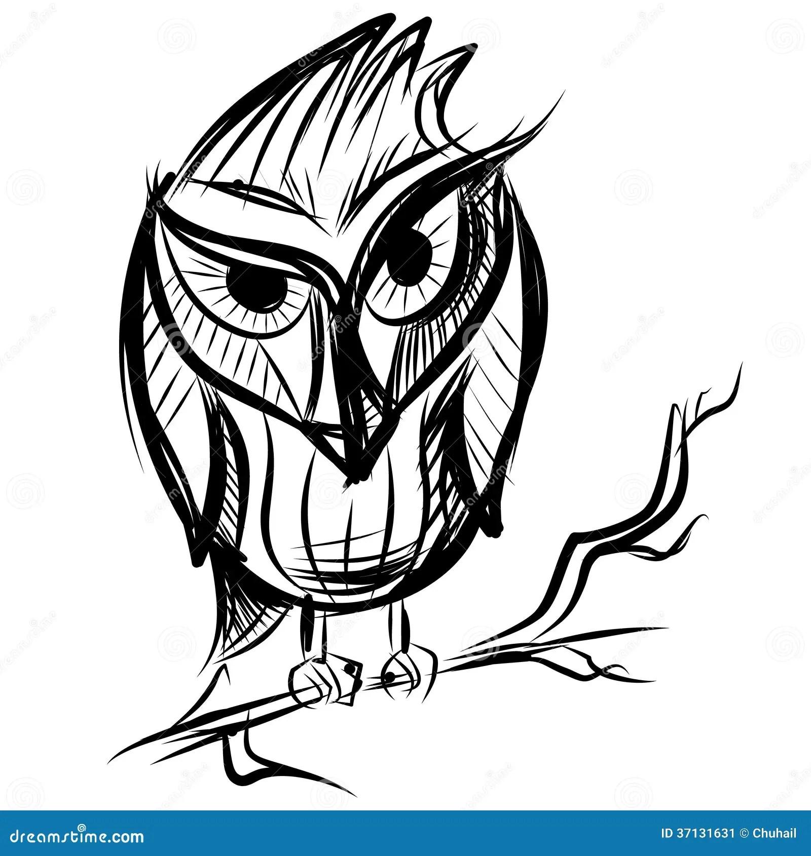 Slimme Uil Op De Tak Vector Illustratie Illustratie Bestaande Uit Viering