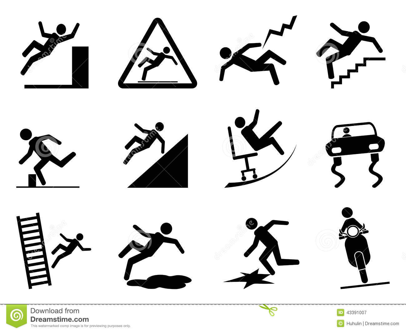 Slippery Icons Stock Vector Illustration Of Figure