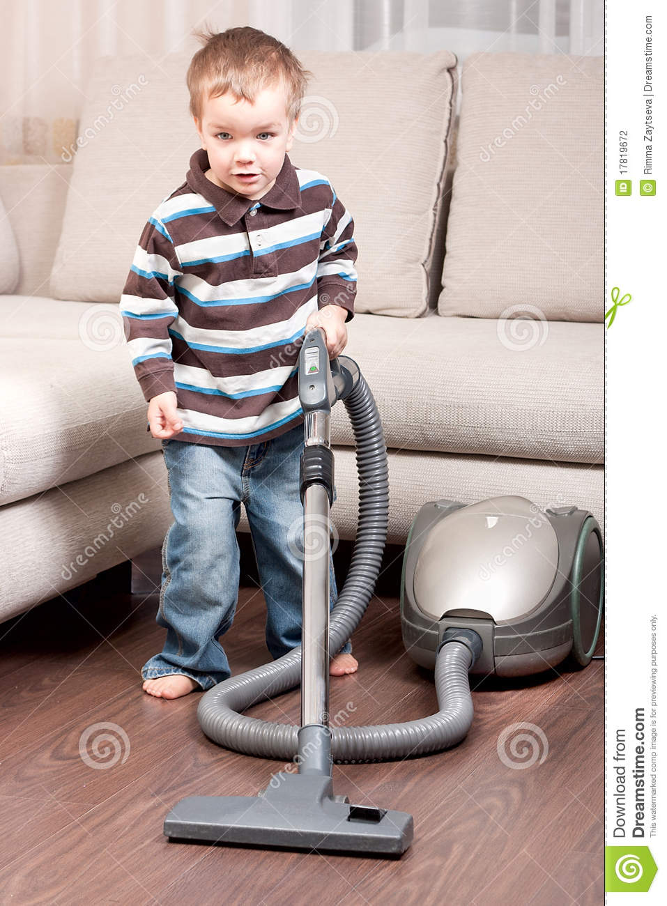 sofa cleaner living room design small boy with vacuum stock photography - image ...