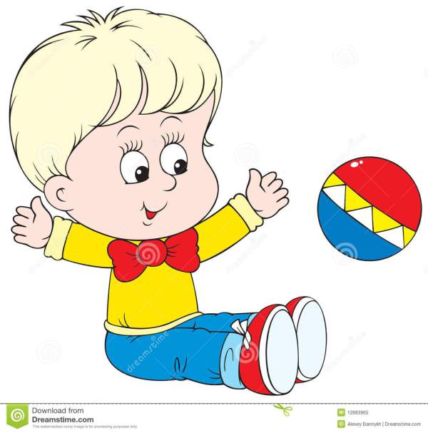small child playing with ball stock