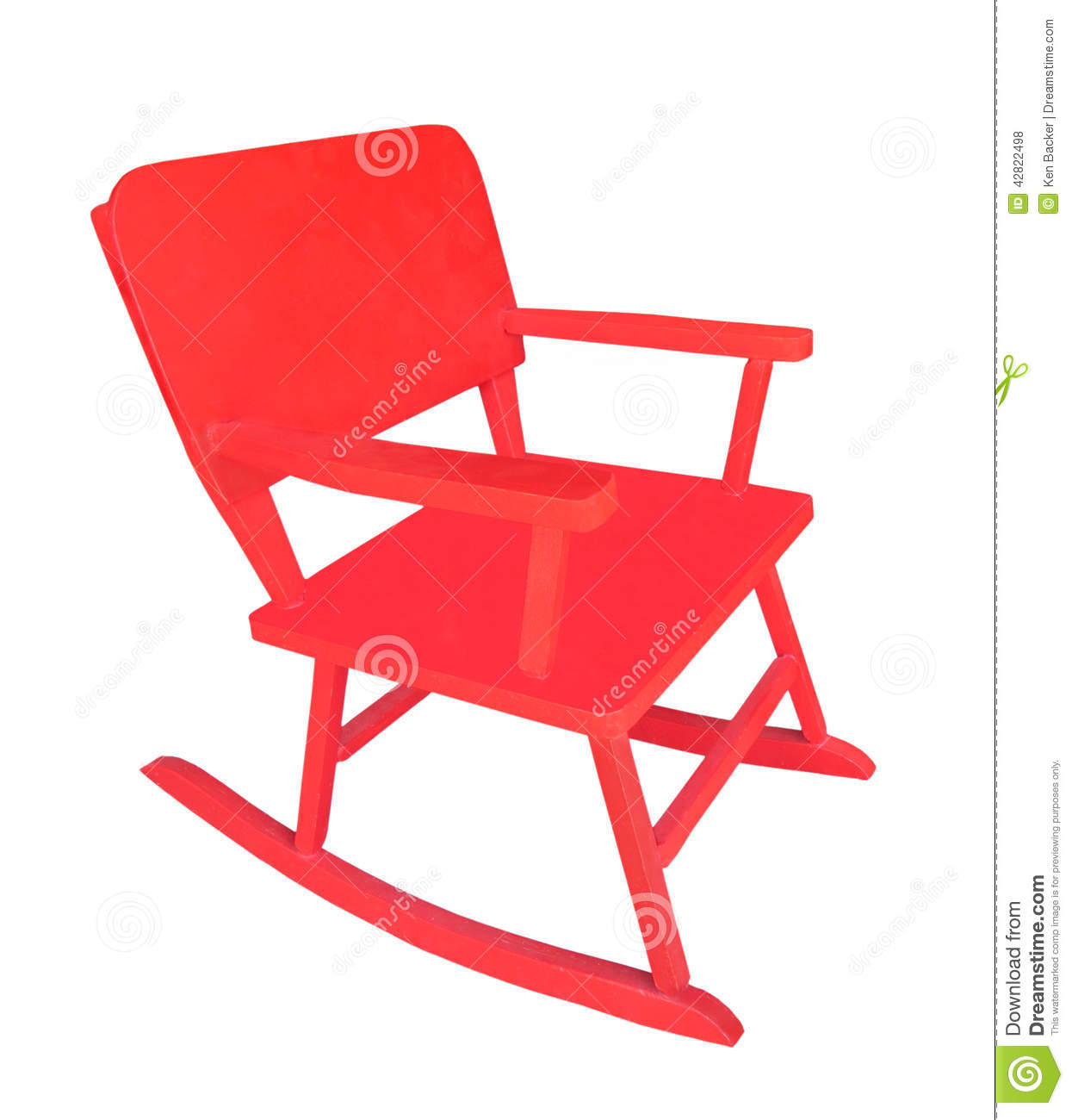 Red Rocking Chair Small Child 39s Red Rocking Chair Isolated Stock Photo