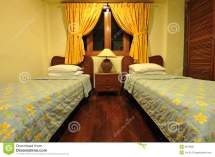 Small Cozy Hotel Room Royalty Free Stock