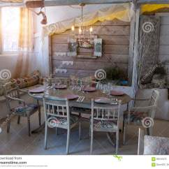 Old Style Living Room Ideas Bed A Small Dining In Rustic House Stock Photo Image Of An