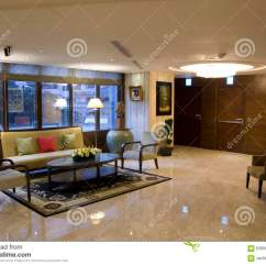 Sofa Table Design Plans Small For Living Room Hotel Lobby Stock Photo. Image Of Interior, Front ...