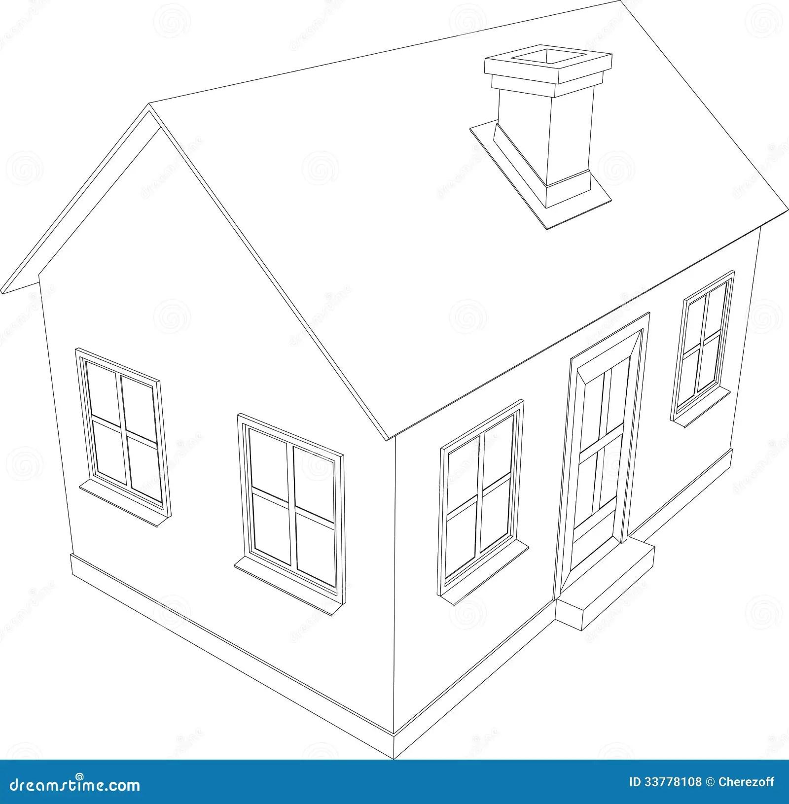 Small house stock illustration. Illustration of city