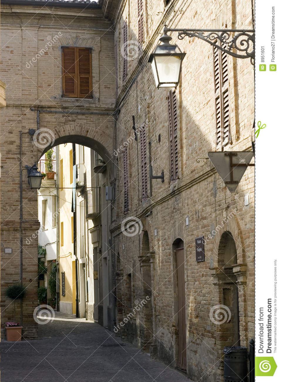 Small Italian Village Stock Image  Image 8951601