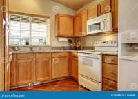 Small Kitchen Area With White Appliances Stock Image ...