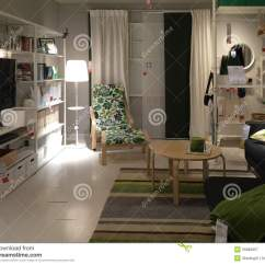 Ikea Usa Living Room Grey And Gold Small Editorial Photography Image Of Lighted 55689957