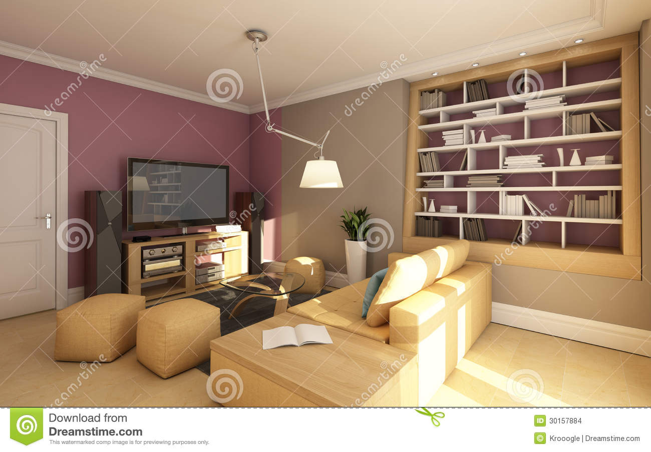 living room decor black sofa and white small media stock images - image: 30157884