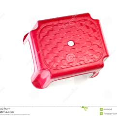 Small Plastic Chair Grandeslam Fishing Accessories Red On White Background Royalty Free Stock