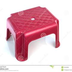 Small Plastic Chair Sitting Exercises Seniors On White Background Stock Photo