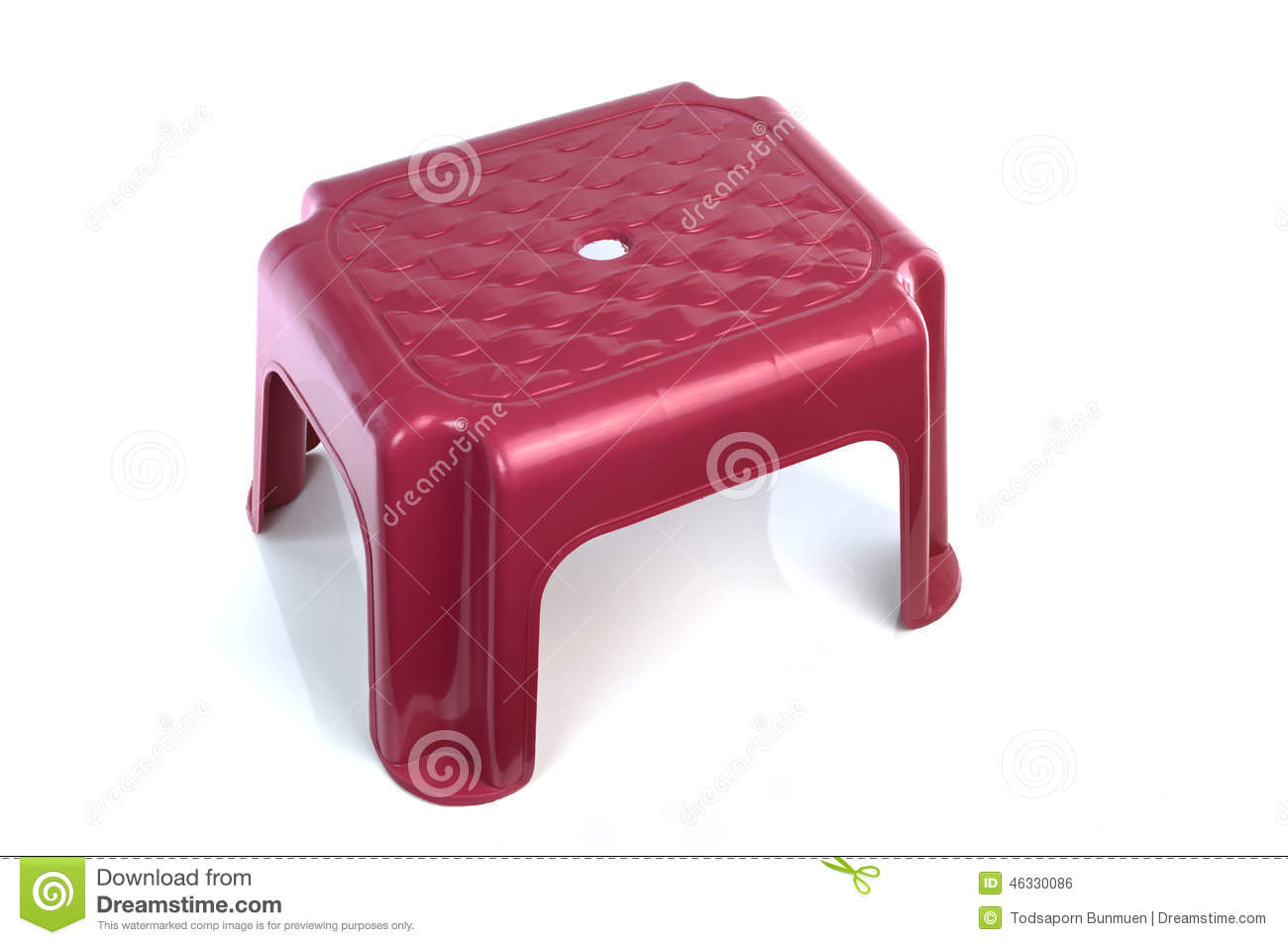 Small Chair Small Plastic Chair On White Background Stock Photo