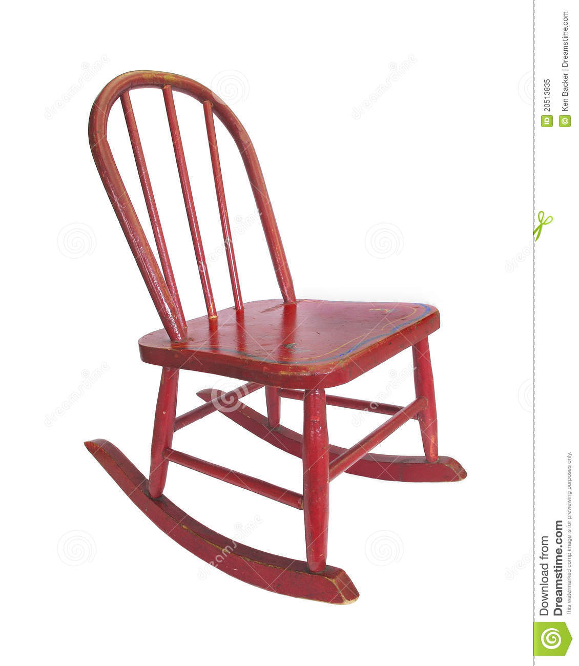 Small Rocking Chair Small Red Rocking Chair Royalty Free Stock Photo Image