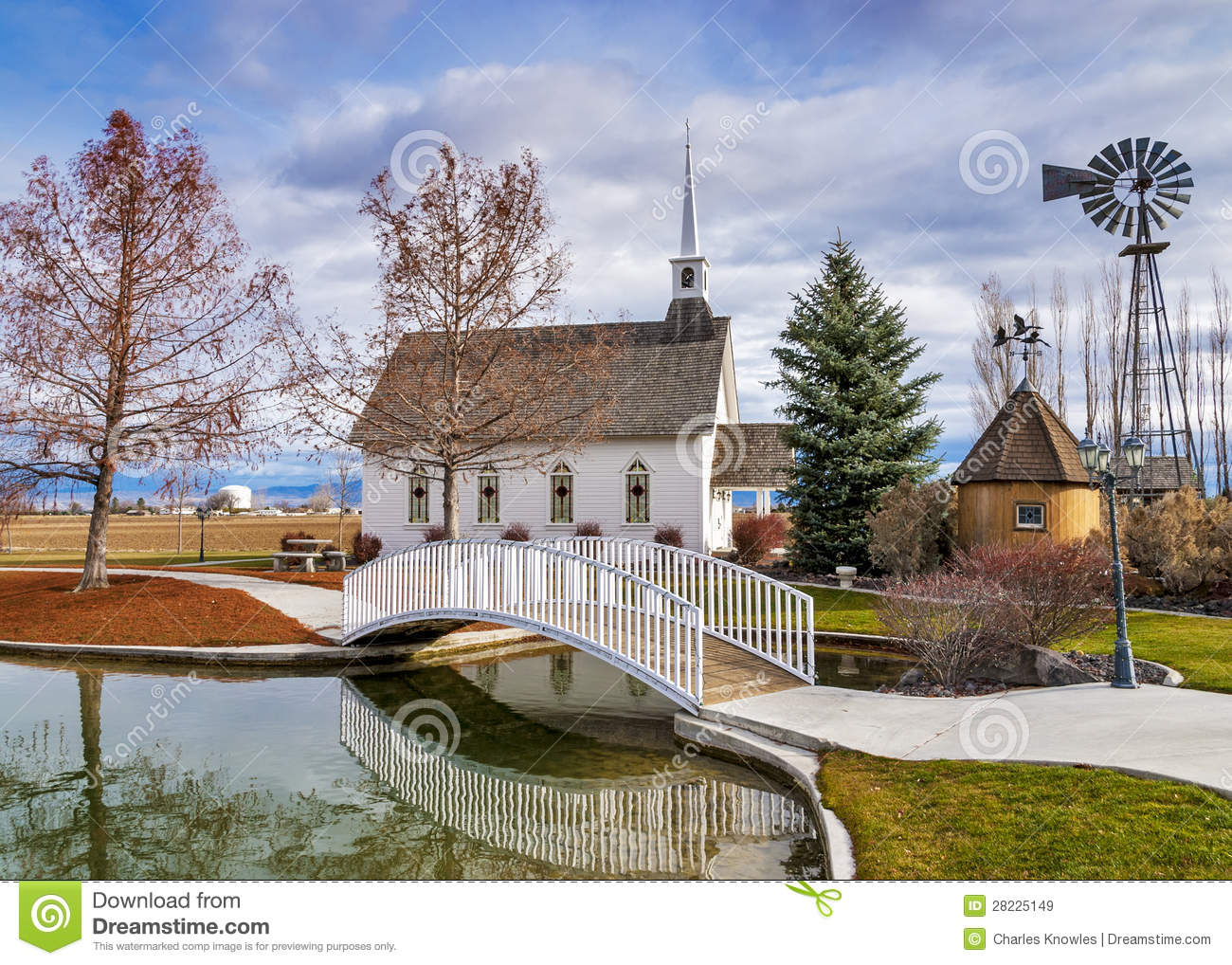 Small Wedding Chapel In The Country Stock Image  Image 28225149