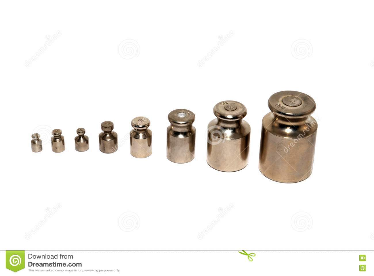 Small weights stock image Image of small work white