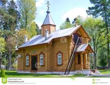 Small Wooden Russian Orthodox Church