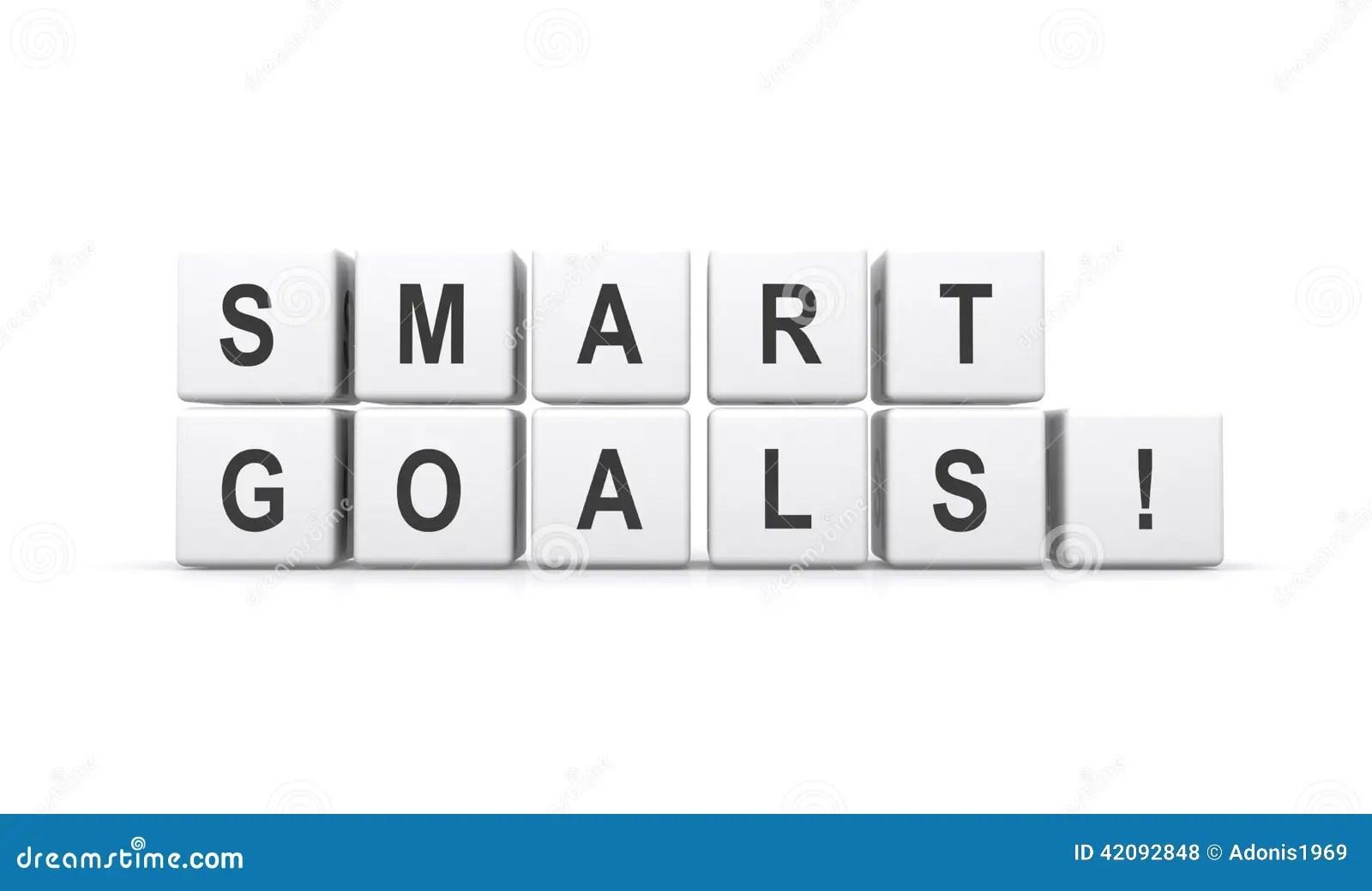 Smart goals ! stock illustration. Illustration of black