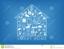 Smart Home Automation Illustration Stock