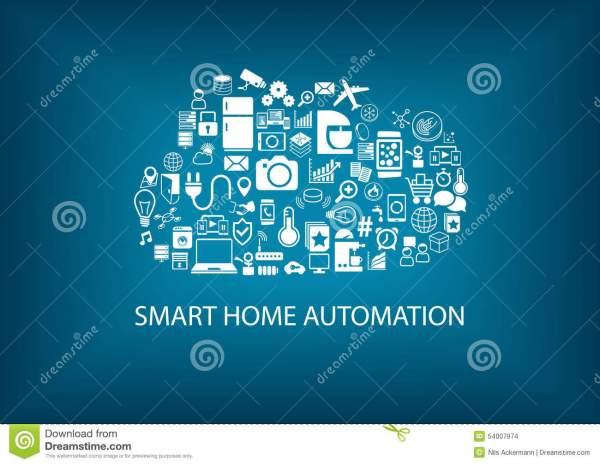 Smart Home Cloud Computing. Cartoon Vector Cartoondealer