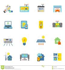 Smart Home Icons Flat Stock Vector. Of Design