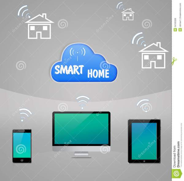 Smart Home Internet Cloud Technology Royalty Free Stock ...